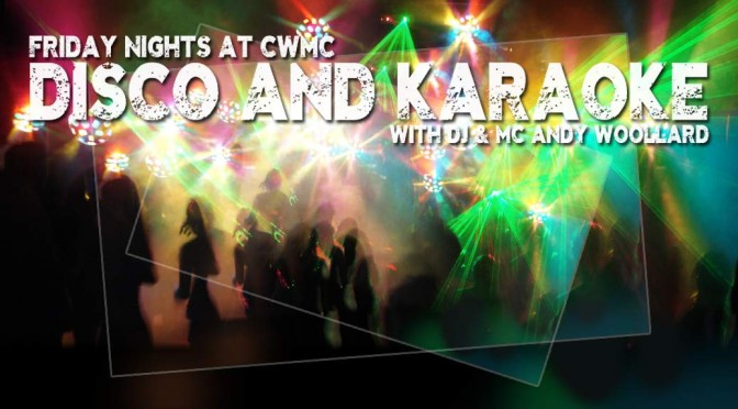 promo image for dico karaoke nights at CWMC
