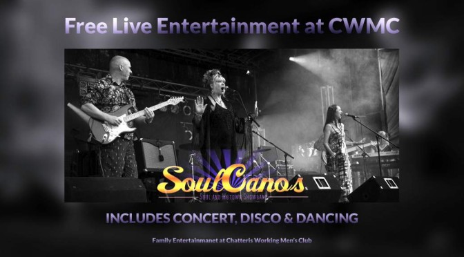 front page promo image for soulcanos live, family entertainment in Chatteris